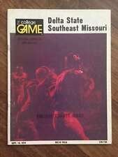 SOUTHEAST MISSOURI @ DELTA STATE COLLEGE FOOTBALL PROGRAM 1974 EX+/NM