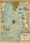 Civil War Map Charleston Harbor S.C. Bombardment of Fort Sumter 1861 Wall Poster