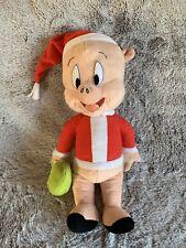 Looney Tunes Porky Pig Santa Claus Christmas Xmas Plush Kids Toy Holiday Plush