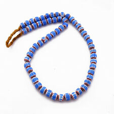 "Glass Beads Chevron  Necklace 22"" Tibetan Nepalese Handicraft Nepal UN1821"