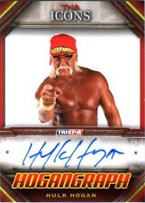 TNA Hulk Hogan H4 ICONS 2010 Hogangraph RED Authentic Autograph Card SN 2 of 5