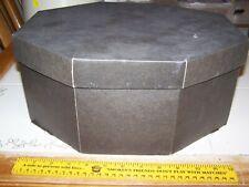 Vintage Large Black Octagon Unbranded hat box