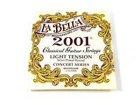 La Bella Guitar Strings  Light Tension  Silver Plated Wound  Classical  2001