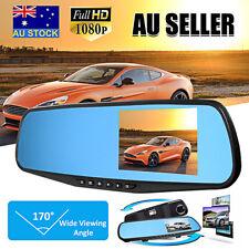 4.3'' HD 1080P Dual Lens Car DVR Rear View Mirror Dash Cam Video Camera Recorder