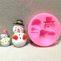 Snowman Craft Silicone Christmas Mould Cake Decorating Mould Handmade Soap Mold