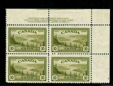 ES-13529 CANADA UNIITRADE 269 GREAT BEAR LAKE NWT PLATE BLOCK #2 MNH $10