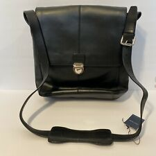 COLE HAAN BLACK LEATHER SMOOTH COLLECTION REPORTER BAG--BRAND NEW NWT A11470