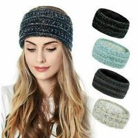 Women Fashion Winter Warm Beanie Headband Skiing Knitted Cap Ear Warmer Band