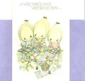Betsey Clark Get Well Three Girls Quilt Quilting Sew Sewing Theme Hallmark Card