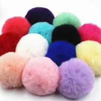 Mini Pompom Hair Ball Faux Rabbit Fur Bag Hat Pendant Key Chain Bag Ornamnets