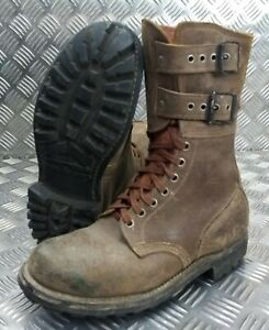Genuine French Foreign Legion Brown Leather / Suede Army Boots Size EUR40  FB403
