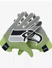 Nike Stadium Football Gloves NFL Seattle Seahawks Gray Green GF0554 073 Large