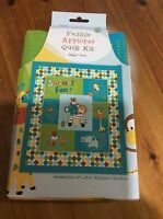 """Patchwork Quilt Kit With Fusible Fabric Shapes, Safari Fun, Finished Size 33x39"""""""