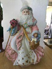 Danbury Mint Victorian Christmas Musical Figurine Santa In Box