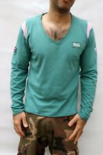 Lonsdale No Surf No life Emerald Green V Neck Top Muscle Fit mens L Super SHIRT