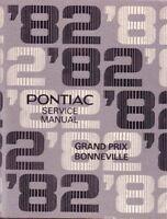 1982 Pontiac Bonneville Grand Prix Shop Service Repair Manual Engine Drivetrain