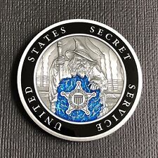 US Secret Service TECHNICAL SECURITY DIVISION TSD BLUE WIZARD Challenge Coin