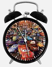 "Disney Cars Alarm Desk Clock 3.75"" Home or Office Decor W175 Nice For Gift"