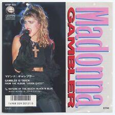 "Madonna - Gambler c/w Nature Of The Beach (Black 'N Blue) 7"" JAPAN 45, NM VINYL"