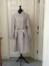 Women Double breasted trench coat size 22 colour stone
