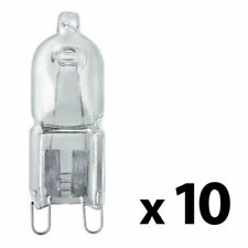 10 x G9 Energy Saving 28W 40W Eco Halogen Bulbs - Dimmable