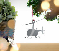 Helicopter - Christmas tree bauble, decoration, ornament