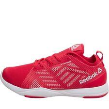 Reebok Femme Cardio Inspire faible Formation Chaussures-Rouge/Blanc/Jaune-SZ 4.5 - Neuf