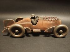 Antique Vintage Style Cast Iron Toy Race Car w Moving Pistons