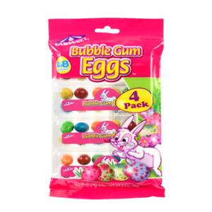 Carousel Bubble Gum Eggs, 48 PCS., 4 PACK