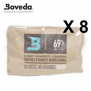 8 X Boveda 69% Rh 2-way Feuchtigkeit Kontrolle - Große 60 Gramm Größe