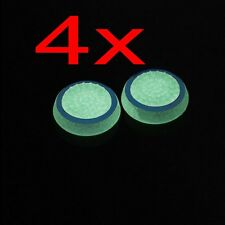 4X Blue Luminous Glow in the Dark Joystick Thumbstick Caps Cover for Sony PS4