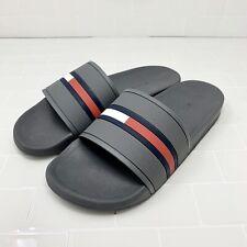 Tommy Hilfiger Ennis Slide Mens Sandals Slippers Grey Size 8,9,10,11,12 - $40