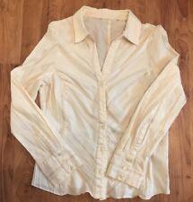 Ladies Size 14 Pale Lemon Yellow  Blouse Debenhams Spring Summer Casual Shirt