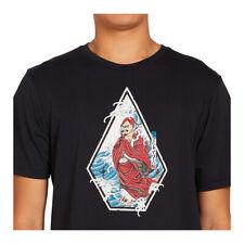 "Volcom ""Nozaka Surf"" Short Sleeve Tee (Black) Men's Graphic T-Shirt"