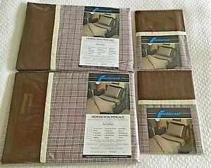 Vintage Fieldcrest Percale Sheets & Pillowcases Single Bed SIERRA PLAID - PROP