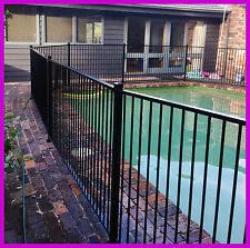 Certified Black or Primrose Pool Fence Flat Top.Glass or Garden Fencing