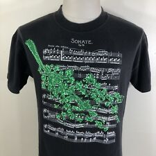 Vtg 80s Tanglewood Sonate Op. 79 Classical Music Sheet T Shirt Beethoven Tee M