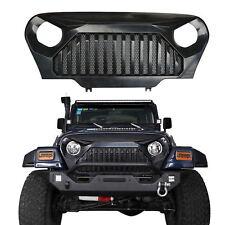 Front Matte Black Gladiator Grill Grille Mesh Inserts for Jeep Wrangler TJ 97-06