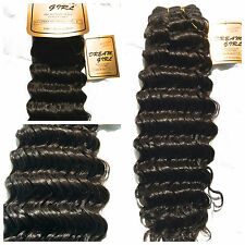 100% HUMAN HAIR - DREAM GIRL FRENCH WEAVE DEEP CURL 16 inches