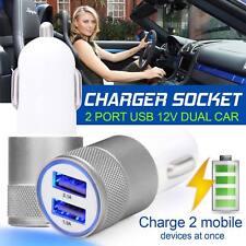 3.1 A DOBLE USB CARGADOR de COCHE de aleación de 2 puertos de carga universal para Samsung iPhone HTC