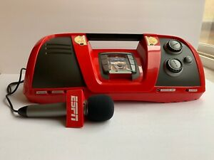 ESPN Play By Play Sports Radio Boom Box Portable With Microphone Tested Working