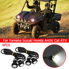 4X White LED Eagle Eye UnderBoby Lighting For Yamaha Suzuki Honda Arctic Cat ATV