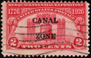 Canal Zone - 1926 - 2 Cents Carmine Rose Liberty Bell Issue # 96  Used VG - Fine