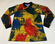 Vtg Mens Umbro Soccer Goalies Shirt Vibrant Rainbow Padded Sleeves Size M