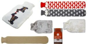 Hot Water Bottle Hearth & Home Various Designs and Colours Brand New
