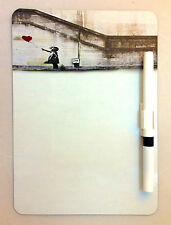 COOL A5 MEMO BOARD KITCHEN FRIDGE MAGNET MAGNETIC DRYWIPE WHITE REMINDER PEN
