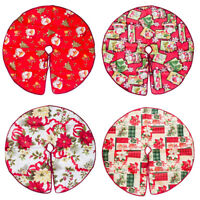 Soft Christmas Tree Skirt Base Floor Mat Cover XMAS Party Home Decor Ornaments