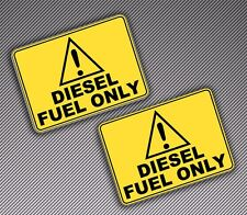 2 VINYL STICKERS DIESEL FUEL ONLY AUTO MOTO CAR VAN TRUCK DOOR LABEL TUNING B 89