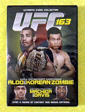 UFC 163: Aldo vs. Korean Zombie  (DVD, 2013, 2-Disc Set)  New Sealed Video Movie