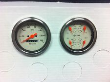 Shark gauges 3 3/8 quad mechanical set STREET ROD HOT ROD, UNIVERSAL